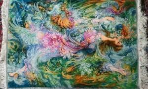 فروش تابلو فرش دست بافت طرح مینیاتوری