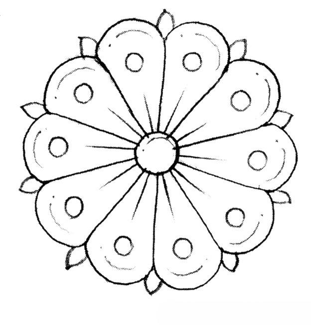 طرح گل برای بافت شبه قالی