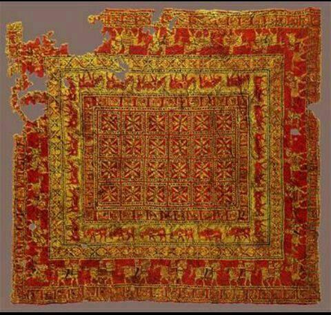 قدیمی ترین فرش جهان بافت ایران در دوره هخامنشی (نام فرش: پازیریک)