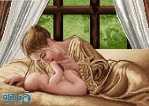 نخ و نقشه طرح مادر و کودک