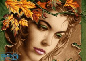 نخ و نقشه طرح دختر پاییز