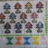 نمونه ای نقشه شطرنجی برای بافت گلیم