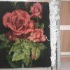 نمونه تابلوفرش بافته شده طرح گل رز سرخ