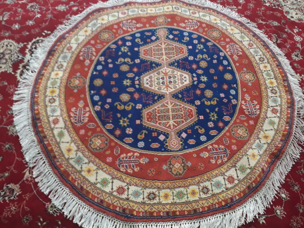 نمونه فرش دستبافت طرح گرد