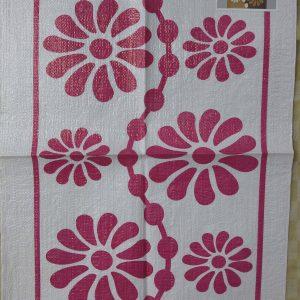 فروش گونی مخصوص بافت شبه قالی طراحی شده به شکل گل های زیبا1
