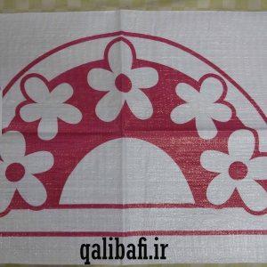 گونی شبه قالی طراحی شده به شکل گل های زیبا 7