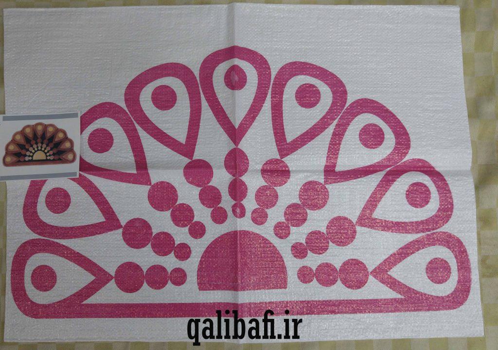 گونی شبه قالی طراحی شده به شکل گل های زیبا 8