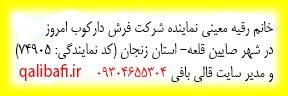 خانم رقیه معینی نماینده شرکت فرش دارکوب امروز و مدیر سایت قالی بافی